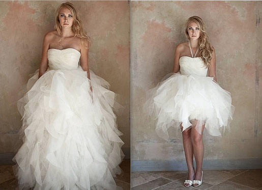 tulle 2 in 1 wedding dresses