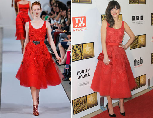 bf96c5d2fe Zooey Deschanel won the Best Actress at the 2012 Critics  Choice Television  Awards