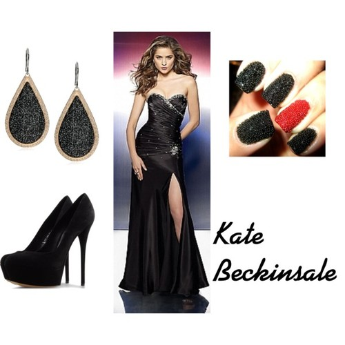 Kate Beckinsale's Slit Evening Dress