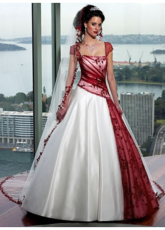 Beautiful Elegant A Line Skirt Wedding Gown