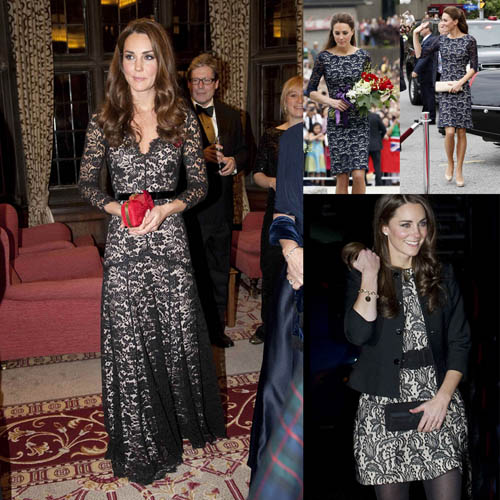 How to accessorize a long black lace dress